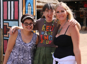 Aneesa, Vanessa and I at the Lesedi Cultural Village. This is the first time we'd met in person.